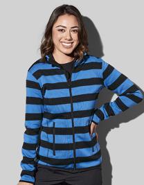 Striped Fleece Jacket Women